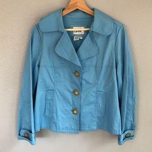 Live a little blue jacket size M
